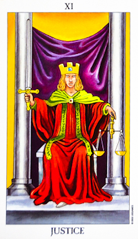 image of Justice tarot card