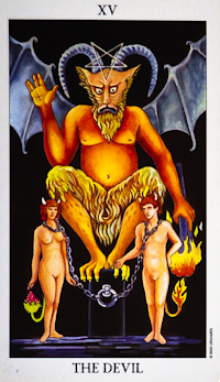 image of the Devil tarot card