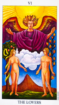 image of The Lovers tarot card